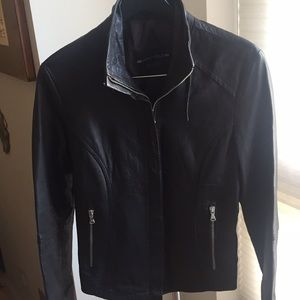 Brown leather jacket from Florence, Italy